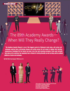 The 89th Academy Awards—When Will They Really Change?